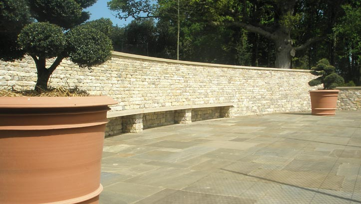 Stone Dry Waller,Oxfordshire |  Traditional wall, partly retaining